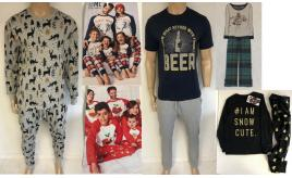 Wholesale Joblot of 10 Adults & Kids Ex-Chain Store Pyjama Sets - Christmas