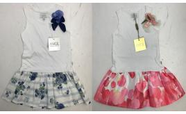 One Off Joblot of 6 Magil Girls Dresses with Raised Floral Detail 2 Styles