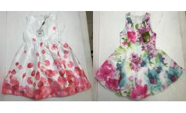 One Off Joblot of 5 Magil Girls Layered Summer Dresses Made in Italy
