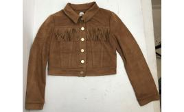 One Off Joblot of 3 Parrot Girls Faux-Suede Tassel Jacket Brown Made in Italy