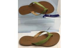 Wholesale Joblot of 10 George Blue Green Snake Strap Tan Sandals Made in Italy