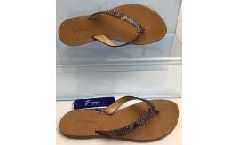 Wholesale Joblot of 10 George Blue Natural Snakeskin Design Strap Tan Sandal