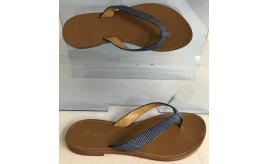 Wholesale Joblot of 10 George Blue Iguazu Lizard Strap Leather Sandal
