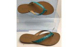 Wholesale Joblot of 10 George Blue Teal Croc Strap Leather Sandal