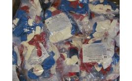 3000 Balloons in Red, white and blue. 100 packs of 30
