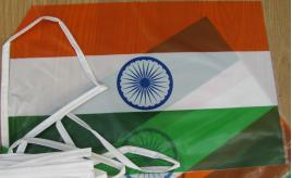 100 Packs of Indian flag bunting 10m long