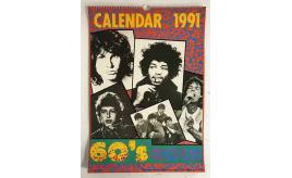 One Off Joblot of 6 60's Rock Calendar 1991 - Vintage Collectable