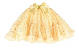 Wholesale Joblot of 10 Travis Girls Gold Sequin Frothy Tutu Skirt Size M/L