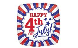 Wholesale Joblot of 60 Amscan Anagram USA Happy 4th of July Foil Balloon 17""