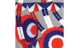 12 Catering packs of Garlands. Red white and blue decorations