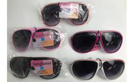 Wholesale Joblot of 20 Large Aviator Style Sunglasses Mixed Colours SG-121