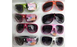 Wholesale Joblot of 20 Unisex Foldable Sunglasses in Mixed Colours SG-134