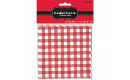 Wholesale Joblot of 50 Amscan Basket Liners Gingham Check (Pack of 18)