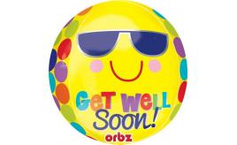 "Wholesale Joblot of 40 Amscan Anagram Orbz Get Well Soon Balloon 15"" x 16"""