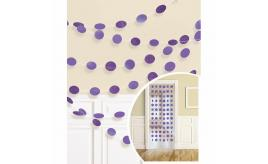 Wholesale Joblot of 24 Amscan Purple Dot Glitter Garlands Decoration (Pack of 6)