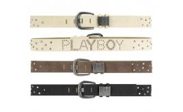 Playboy Mens Stud Black belt PM0083-BLK