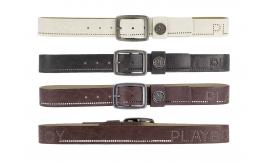 Playboy Mens Perforated Belt Brown PM0084-BRN