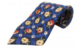 Joblot of 20 100% Silk Cavenagh Branded Blue Floral Patterned Ties
