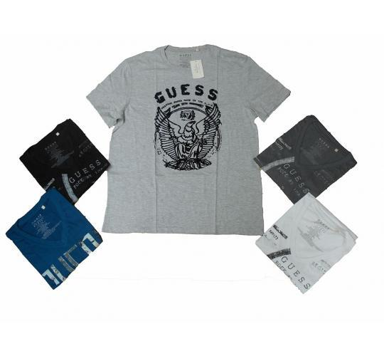 One Off Joblot of 8 Mens Guess Los Angeles Assorted T-Shirts