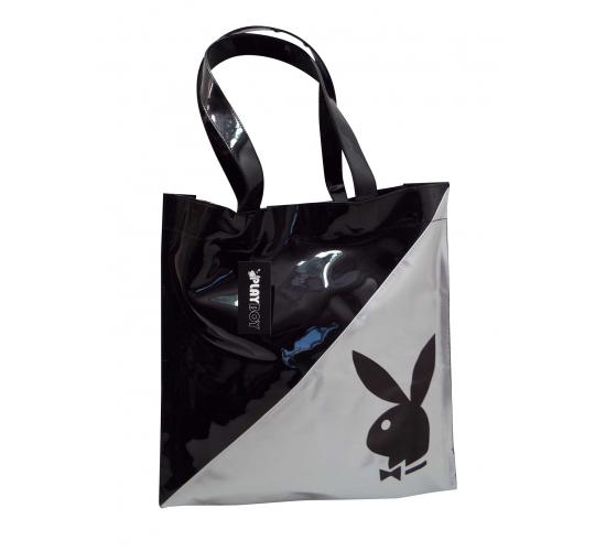 Wholesale Joblot Of 5 Playboy Black & Silver Shopping bags PA7531-BLK