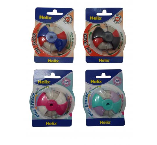 Wholesale Joblot Of 144 Helix PVC-Free Closing Multi-Surface Disc Erasers