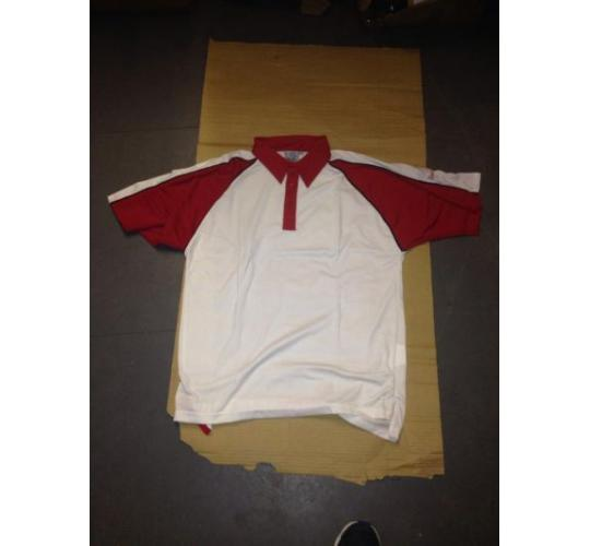 readers cricket polo shirts red extra large x 29 medium x 6