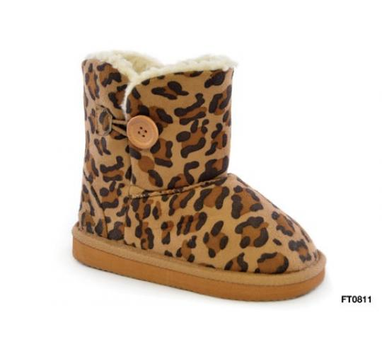 Clearance parcel of 12 children Leopard Print Outdoor Boot -FT0811