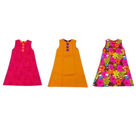 Joblot of 10 Brit Chic Dresses Kids Various Colours/Patterns Vivid Colour Girls