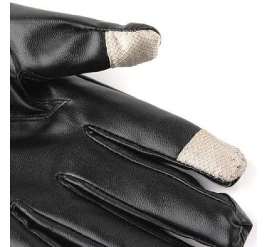 100 x Men and Women Capacitive Touch Screen Leather Gloves