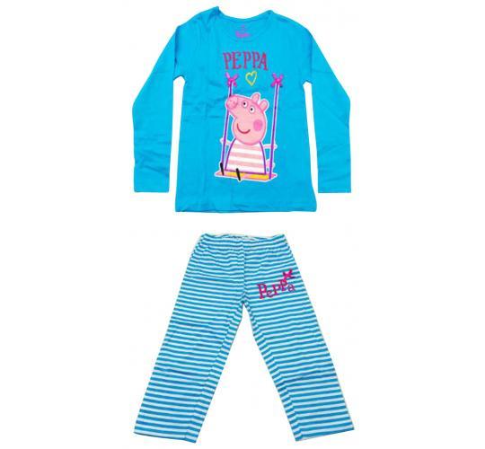 Joblot of 10 Childrens Peppa Pig Pyjama Sets Blue Striped Girls Various Sizes