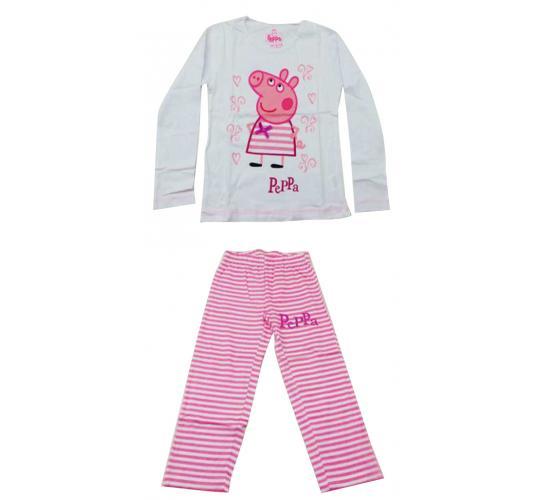 Joblot of 10 Childrens Peppa Pig Pyjama Sets White Striped Girls Various Sizes