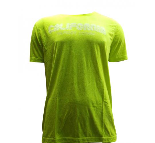 Joblot of 10 Hilfiger Mens T Shirts De-Branded Fluorescent Yellow 'California'