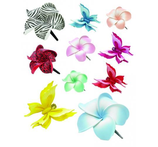 Joblot of 100 Dolly Martin Flower Hair Slider Clips Mixed Styles