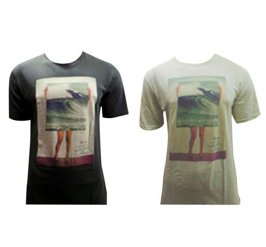 Joblot of 10 Quiksilver T Shirts Mens 'Quiksilver Country' Design 2 Colours