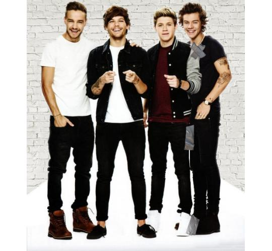 One Direction re-worked cut-outs featuring the fab 4