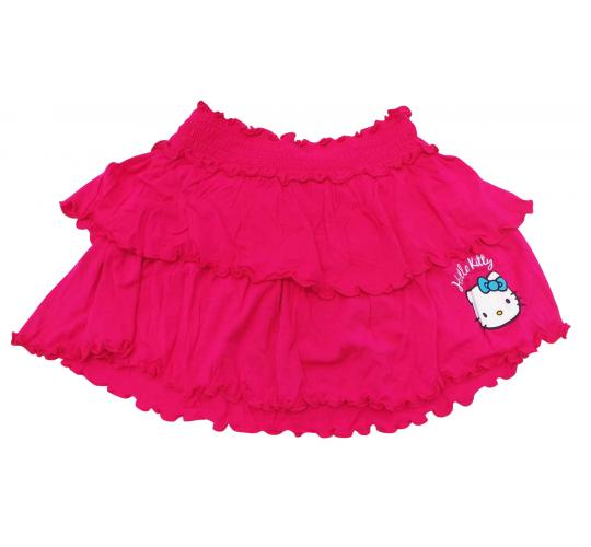 Joblot of 6 Hello Kitty Skirts Girls Hot Pink Ruffled Logo Various Sizes