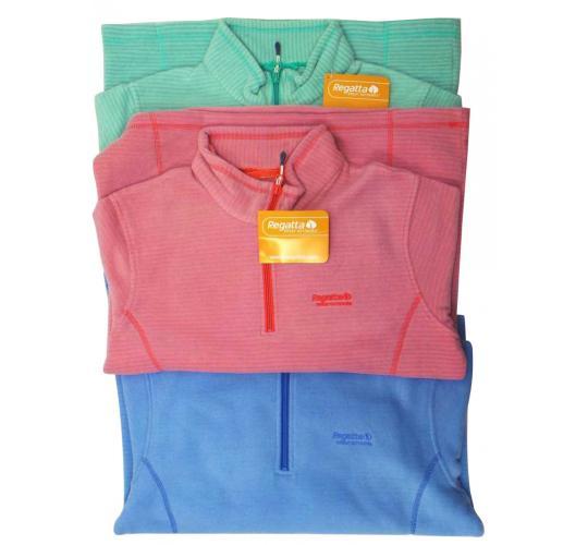 Joblot of 10 Regatta Jumpers Zip-Neck Pullovers Ladies 3 Pastel Colours Fleece