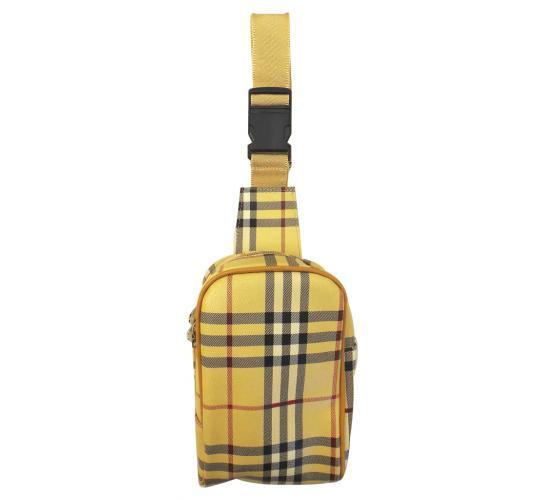 Joblot of 48 Checkered Shoulder Bags Imitation Leather Adjustable Strap