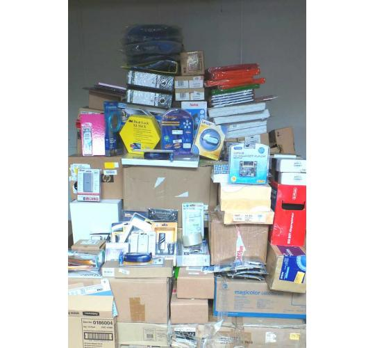 One Off Lot of 148 Assorted Stationery Items Pens Notebooks Shredder Bags etc.
