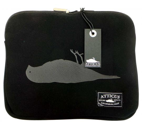 Joblot of 10 Atticus Laptop/Tablet Cases Harvey Black 'Dead Bird' Logo Zip-Up