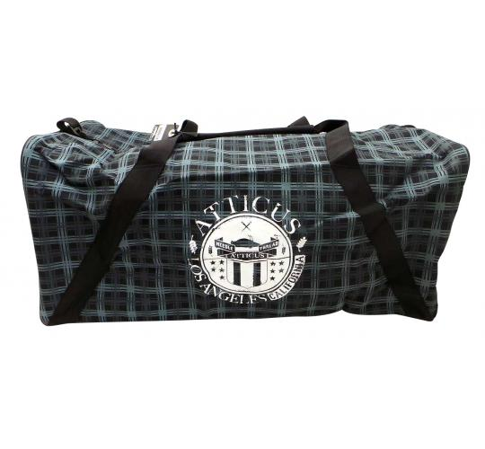 Joblot of 10 Atticus Holdalls Seshian Grey/Black Tartan Patterned Travel Bags