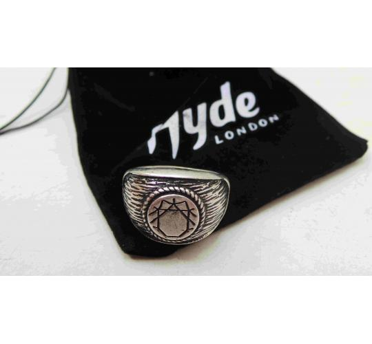 Wholesale Joblot Of 20 Mens Star Signet Silver Hyde London Rings BM0006