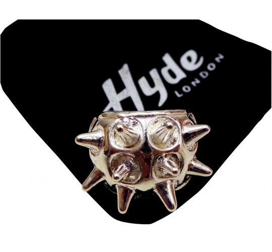 Joblot of 20 Hyde London Rings Silver Spiked Chunky Hedgehog Mens One Size