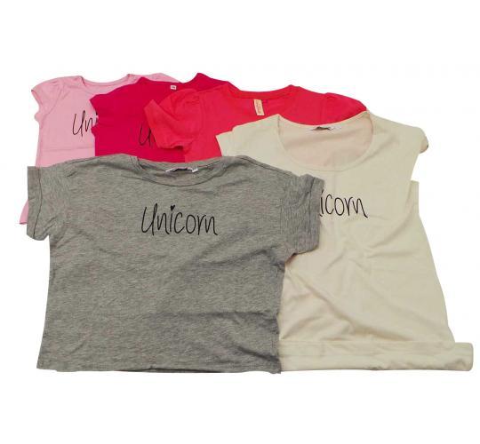 Joblot of 20 Girls T Shirts 'Unicorn' Slogan