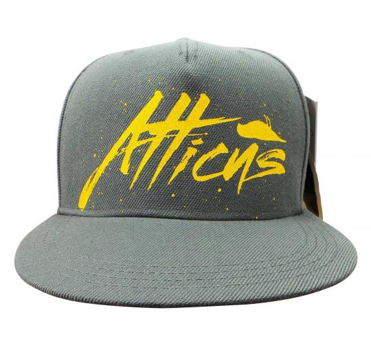 Joblot of 10 Atticus Snapback Hats Grey Yellow Detail Tags Intact AHW7108