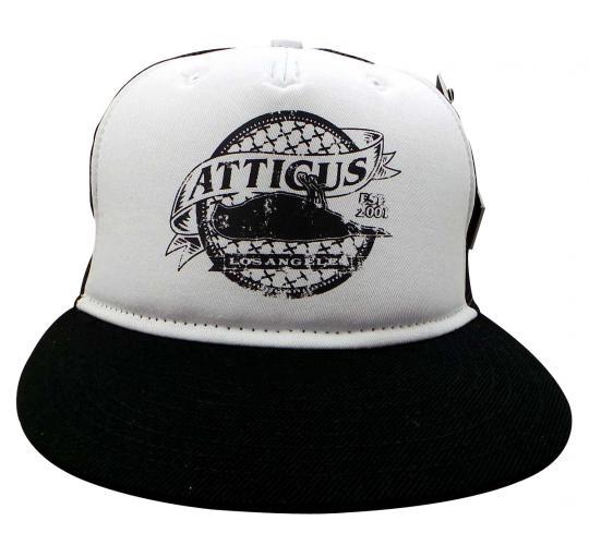 Joblot of 10 Atticus Snapback Hats Black/White Mesh 'Dead Bird' Seal AHW7104