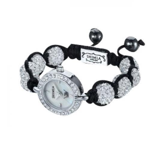 Ltd Ladies Shimla Shamballa Watch Crystal Bead Silver Plated Bracelet SH-043
