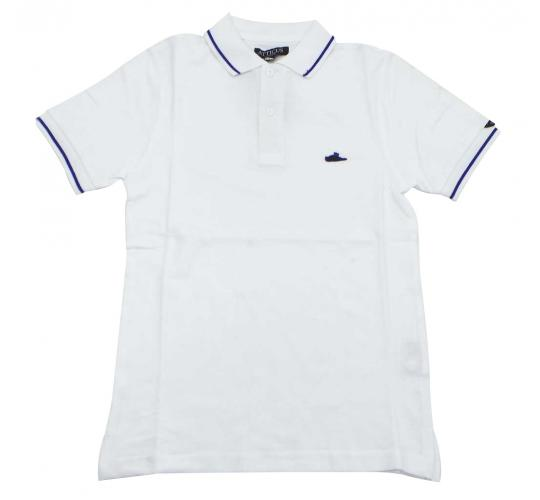 Joblot of 15 Atticus Polo Shirts 'Sant Polo' Mens White & Blue XS, S & XL