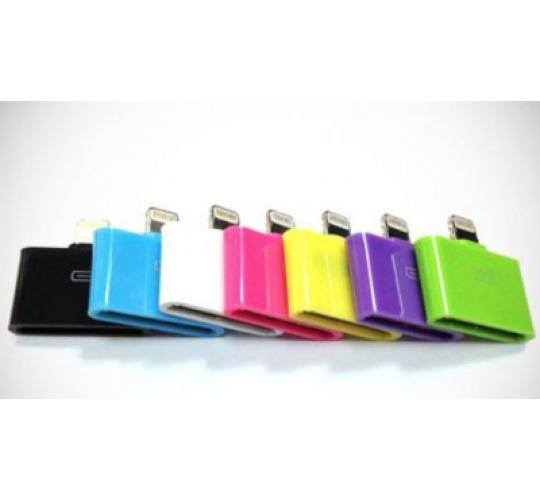 Mix Colour Compatible 30PIN TO 8PIN Adaptor for iPhone 5/6 iPad Mini1/2/3 Air1/2