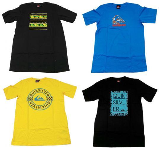 Joblot of 10 Assorted Quiksilver T Shirts Kids 6 Designs Various Sizes/Colours